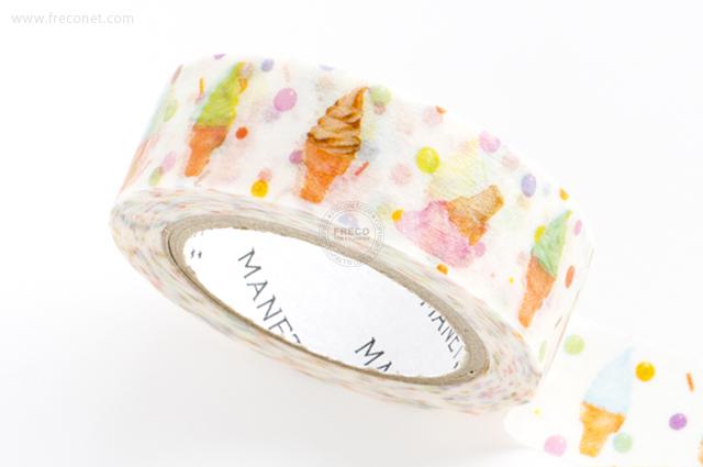 MANETマスキングテープ Soft ice cream(MN-MT-041)【クロネコDM便OK】