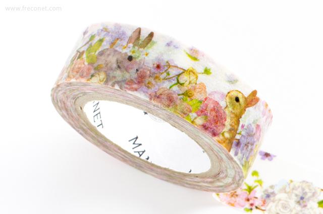 MANETマスキングテープ Flower Rabbit(MN-MT-046)【クロネコDM便OK】