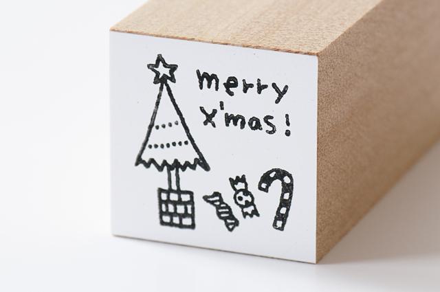 moda クリスマススタンプ(M)ツリーとお菓子(MS-5190)【宅急便配送】