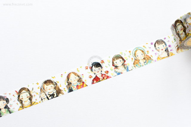 卓大王 Molintaマスキングテープ 第5弾 各国軟妹(MTO-501247)【クロネコDM便OK】