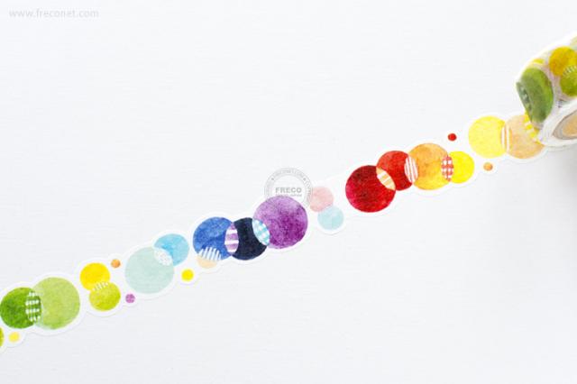 卓大王 Molintaマスキングテープ 第5弾 彩色点点(MTO-501249)【クロネコDM便OK】