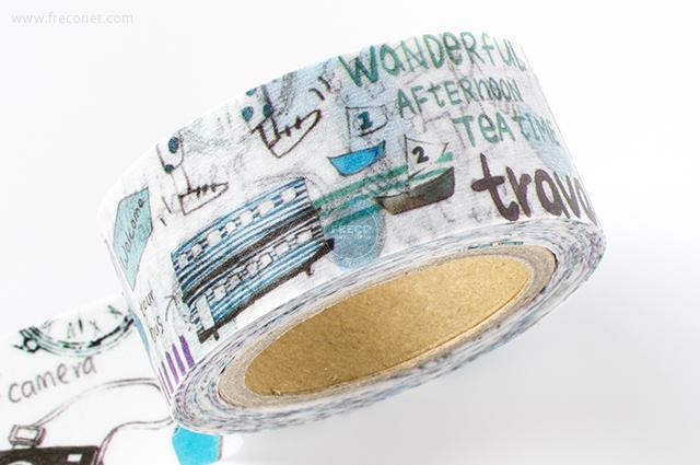 小徑文化×染セン插畫マスキングテープ 日子的尋覓(MTW-AJ013)*日本製【クロネコDM便OK】