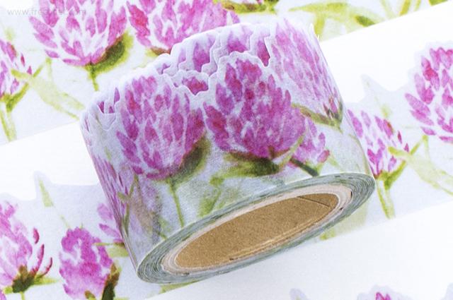 小徑文化×夏米花園マスキングテープ 印染習帖 千日紅(MTW-CH061)*日本製【宅急便配送】