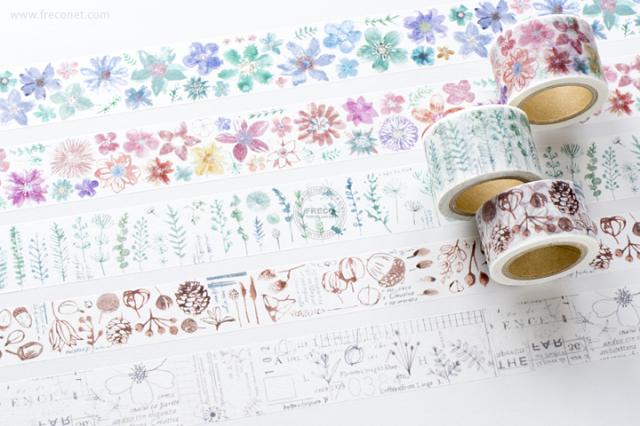 小徑文化×夏米花園マスキングテープ 第7弾 おまとめパック(MTW-CH074 - 078)【宅急便配送】