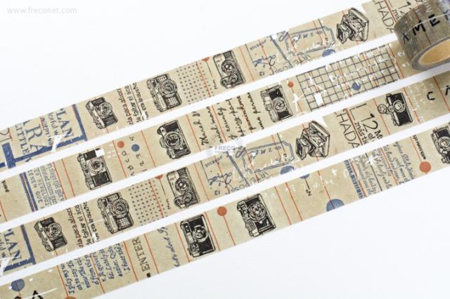 小徑文化 × 夏米花園マスキングテープ CAMERA(MTW-CH081)【宅急便配送】