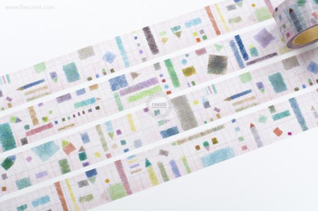 小徑文化 × 夏米花園マスキングテープ REDCOLOR(MTW-CH087)【宅急便配送】