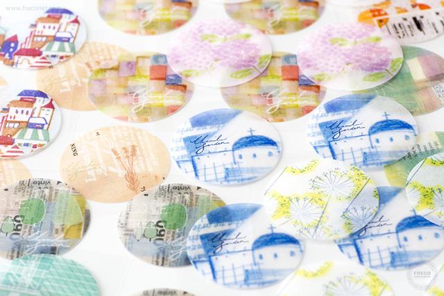 小徑文化×夏米花園 和紙シールセット(MTW-CHSE001)*日本製【クロネコDM便OK】