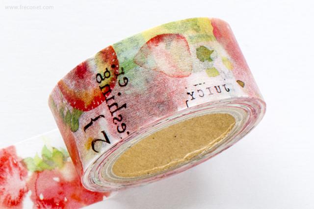 小徑文化×涼丰 Liang Feng マスキングテープ Strawberry Mint(MTW-LF004)【クロネコDM便OK】