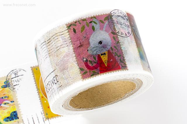 小徑文化×馬里斯マスキングテープ 切手(MTW-MA004)*日本製【宅急便配送】