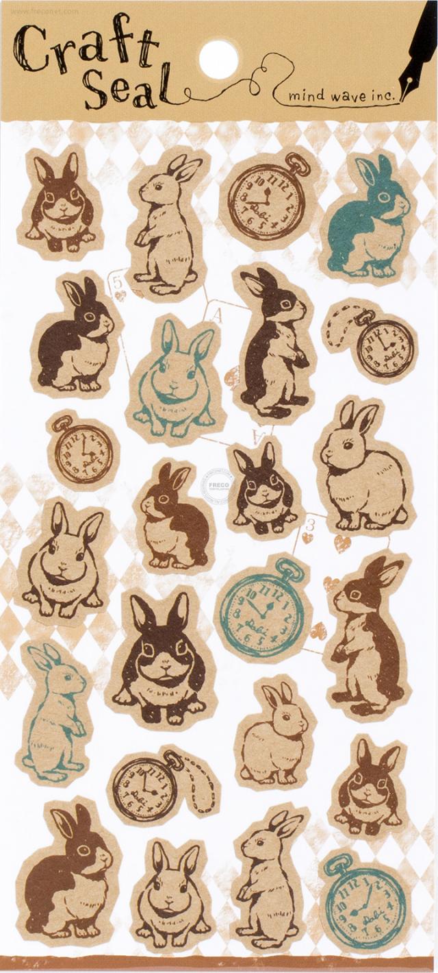 クラフトシール ウサギ(75484)【クロネコDM便OK】