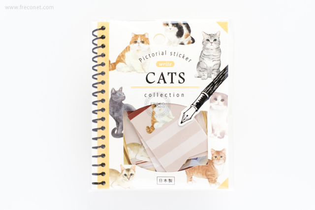 ピクトリアルステッカー write 猫(78442)【クロネコDM便OK】