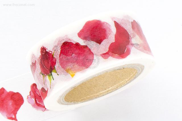 Oursマスキングテープ Flowers 1 (Rose)(005-H01)*日本製【クロネコDM便OK】
