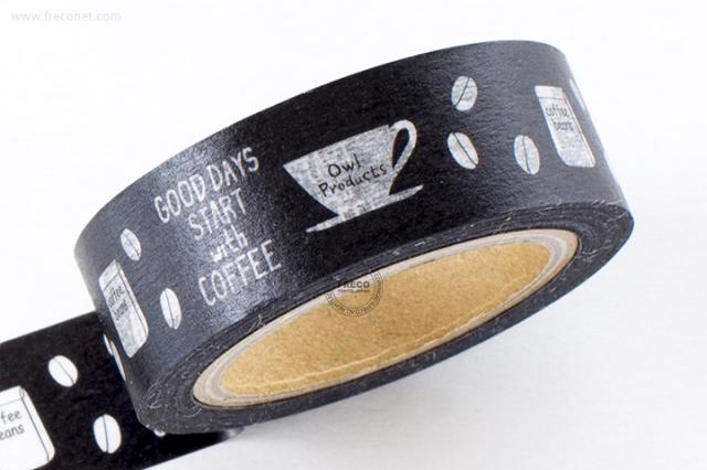GreenFlashマスキングテープ coffee beans(OW-057)【クロネコDM便OK】