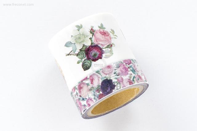 ルドゥーテマスキングテープ / 美花選 + チンツ(P016B-880)【宅急便配送】