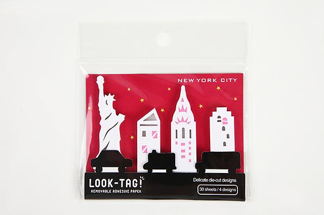 LOOK-TAG! ダイカット付箋 ニューヨーク(PFBS1090)【メール便OK】