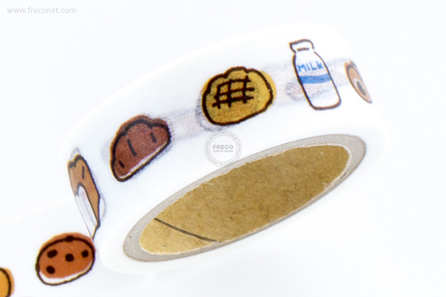 古川紙工マスキングテープ ころころパン(QMT-10)【クロネコDM便OK】