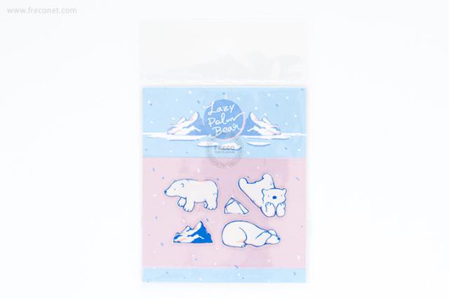 OURS 透明シール Lazy Polar Bear #2(S01_K02)【クロネコDM便OK】
