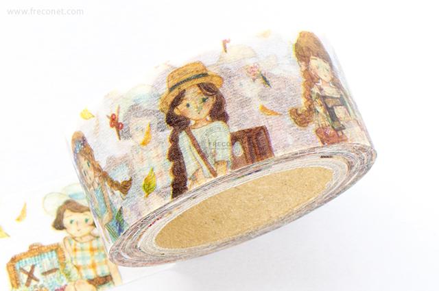 童樂マスキングテープ Tiny Girl(日本製)【クロネコDM便OK】