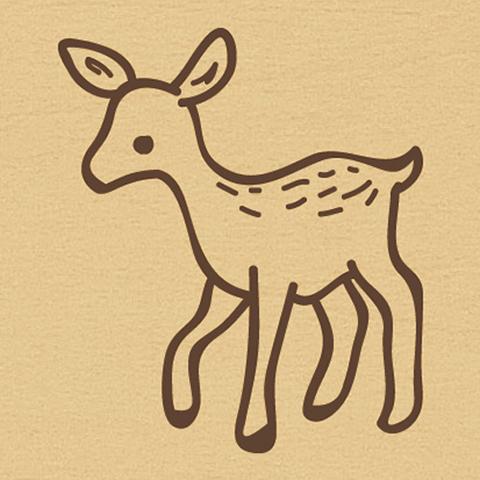 ウッドスタンプ アニマルシリーズ バンビ(WS-A-16)【宅急便配送】