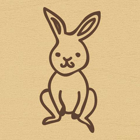 ウッドスタンプ アニマルシリーズ ウサギ(WS-A-19)【宅急便配送】