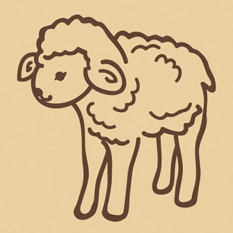 ウッドスタンプ アニマルシリーズ 羊(WS-A-21)【宅急便配送】