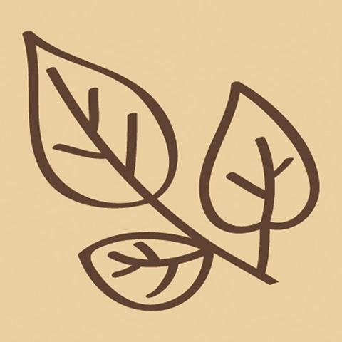 ウッドスタンプ アニマルシリーズ 葉っぱ(WS-A-29)【宅急便配送】