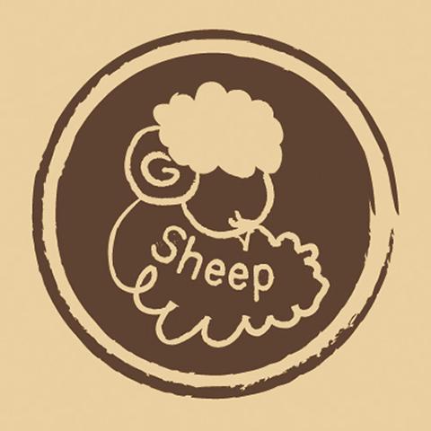 ウッドスタンプ アニマルシリーズ 羊 Sheep(WS-A-36)【宅急便配送】