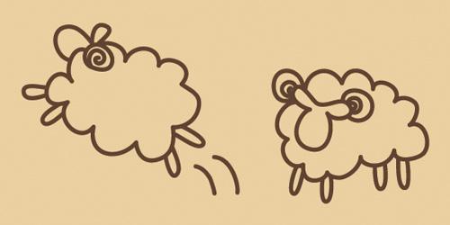 ウッドスタンプ アニマルシリーズ 羊 ジャンプ(WS-C-09)【クロネコDM便OK】