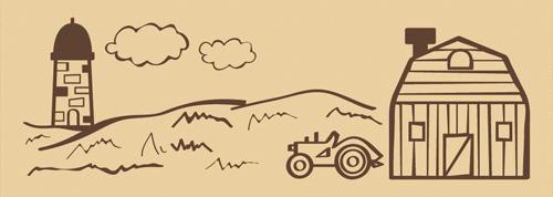ウッドスタンプ アニマルシリーズ 牧場(WS-D-08)【宅急便配送】