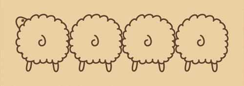 ウッドスタンプ アニマルシリーズ 羊 おしり(WS-D-09)【宅急便配送】