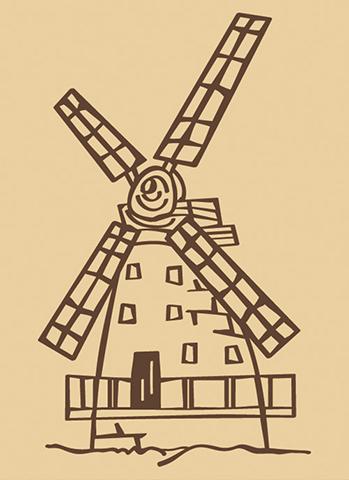 ウッドスタンプ アニマルシリーズ 風車小屋(WS-E-10)【宅急便配送】