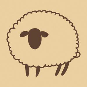 ウッドスタンプ アニマルシリーズ 羊 サフォーク(WS-I-01)【クロネコDM便OK】