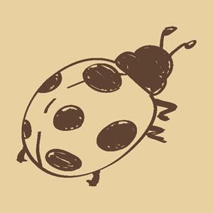 ウッドスタンプ アニマルシリーズ てんとう虫(WS-I-26)【クロネコDM便OK】