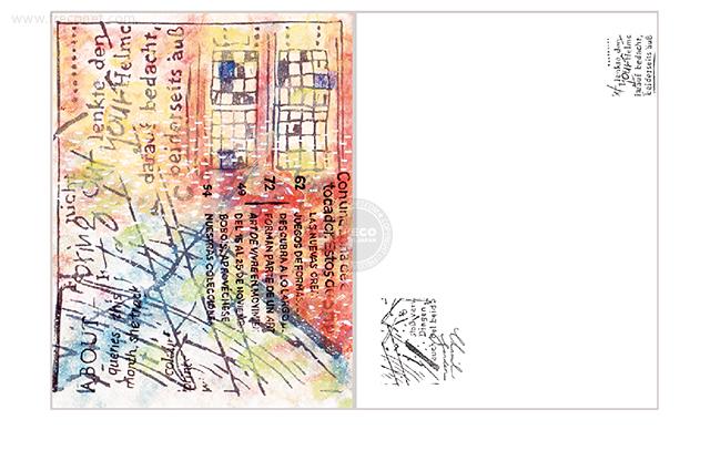 夏米花園ポストカード window(XM-PC-019)【メール便OK】