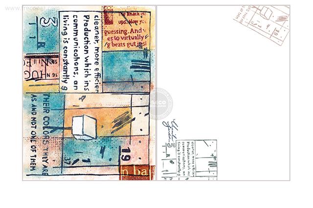 夏米花園ポストカード message(XM-PC-020)【メール便OK】