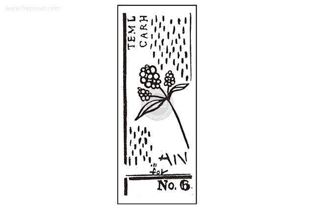 夏米花園スタンプ F12(XM-ST-068)【メール便OK】
