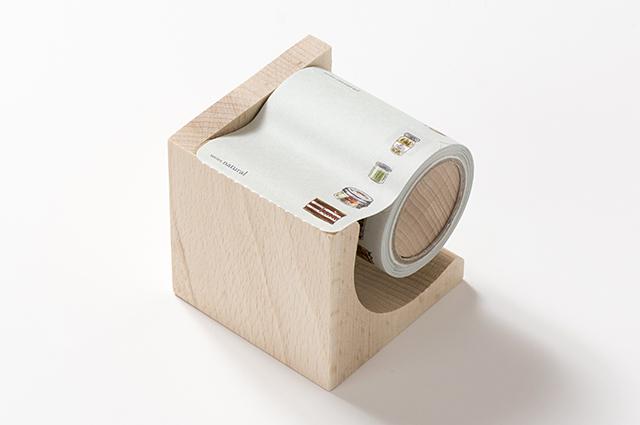 yano design型抜きロールふせん(木製台付き)Bottling&Canned food [YD-RF-005]【宅急便配送】