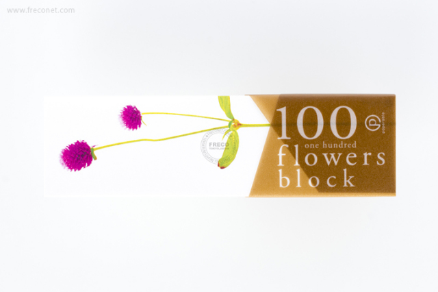 100 flowers block メモブロック帳 バーネットパープル(YKP90-0775)【クロネコDM便OK】