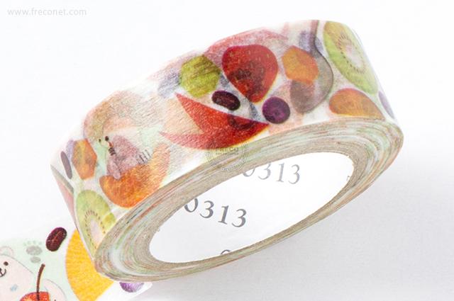 0313マスキングテープ Shirokuma Fruits(ZS-MT-028)*日本製【クロネコDM便OK】