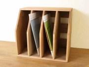 ファイルスタンド / 送料無料の収納木箱 ファイル収納 ルーター収納 アンティーク ファイルラック マガジンスタンド 書類棚 ボックス
