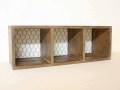 ネット3ボックス / 収納 木箱 シェルフ ラック CDラック ディスプレイ トイレットペーパー 壁掛け 壁面収納 カントリー 北欧 アンティーク