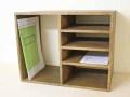オープンシェルフ / 収納 棚 オープンラック フリーラック 書類棚 整理棚 飾り棚 卓上 ファイルケース 木箱 カントリー 北欧 アンティーク