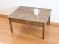 ドローワーローテーブル / 送料無料 ローテーブル ちゃぶ台 コーヒーテーブル センターテーブル 引き出し付き カントリー 北欧 アンティーク