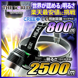 LED �إåɥ饤�� LED�饤�� �ե�å���饤�� MAX2500LM(�롼���)1��LED �ȼ͵�Υ800��ȥ� CREE�� THE WORLD �����ɿ� fl-head-001