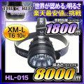 LED ヘッドライト LEDライト MAX8000LM(ルーメン)10灯LED 照射距離1800メートル HL-015 CREE社 THE WORLDヘッドライト fl-sh011