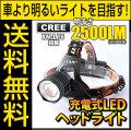 LED ヘッドライト LEDライト フラッシュライト MAX2500LM(ルーメン)1灯LED 照射距離800メートル CREE社 THE WORLD 生活防水 fl-sh016