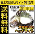 LED ヘッドライト LEDライト フラッシュライト MAX2500LM(ルーメン)1灯LED 照射距離800メートル CREE社 THE WORLD 生活防水 fl-sh017