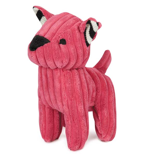 ZANIES CORDUROY CUTIES DOG TOYS/Pink