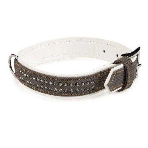 East Side Collection Denim Gemstone Leads & Collars Set /Black