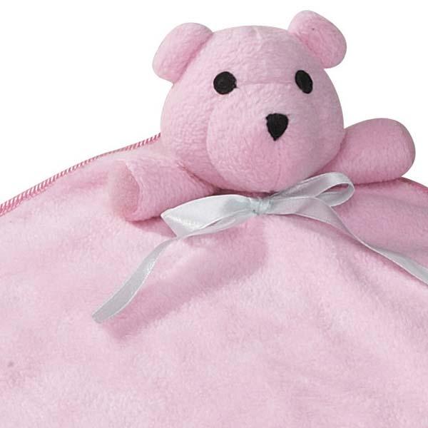 ZANIES SNUGGLE BEAR BLANKETS/Pink